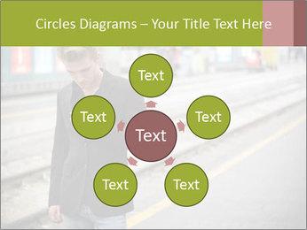 Man Checking Cellphone PowerPoint Template - Slide 78