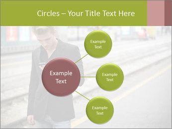 Man Checking Cellphone PowerPoint Template - Slide 79