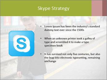 Man Checking Cellphone PowerPoint Template - Slide 8