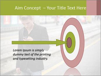 Man Checking Cellphone PowerPoint Template - Slide 83