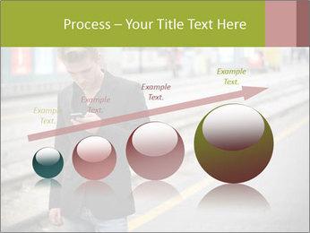 Man Checking Cellphone PowerPoint Template - Slide 87
