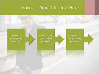Man Checking Cellphone PowerPoint Template - Slide 88