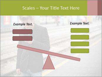 Man Checking Cellphone PowerPoint Template - Slide 89