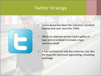 Man Checking Cellphone PowerPoint Template - Slide 9