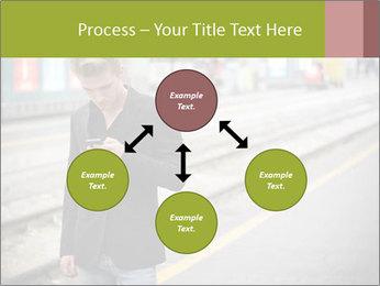 Man Checking Cellphone PowerPoint Template - Slide 91