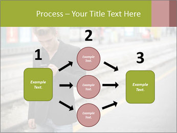 Man Checking Cellphone PowerPoint Template - Slide 92