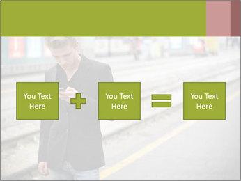 Man Checking Cellphone PowerPoint Template - Slide 95