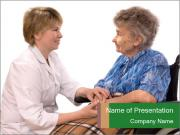 Old Woman And Nurse PowerPoint Template