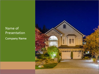 Private House Facade PowerPoint Template - Slide 1