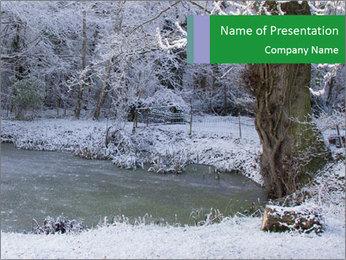 Frozen Lake PowerPoint Template - Slide 1