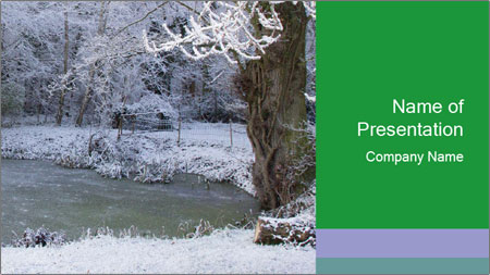 Frozen Lake PowerPoint Template