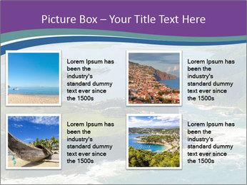 Blue Lagoon PowerPoint Template - Slide 14