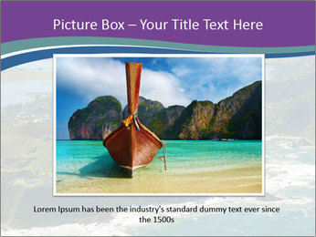Blue Lagoon PowerPoint Template - Slide 16