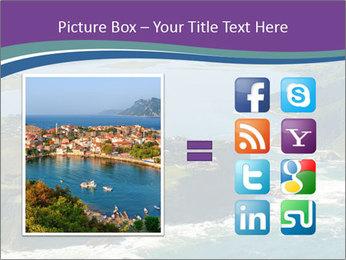 Blue Lagoon PowerPoint Template - Slide 21