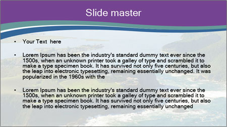 Blue Lagoon PowerPoint Template - Slide 2