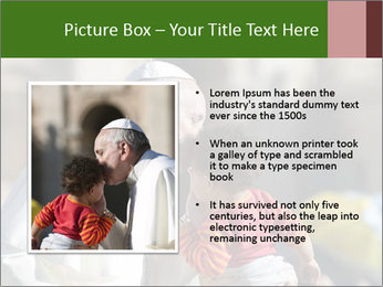 Pope Kissing Child PowerPoint Template - Slide 13