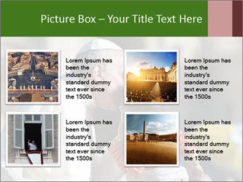 Pope Kissing Child PowerPoint Template - Slide 14