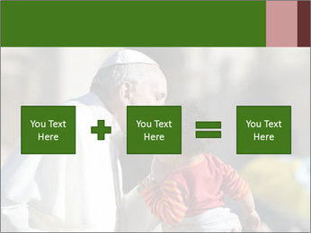 Pope Kissing Child PowerPoint Template - Slide 95