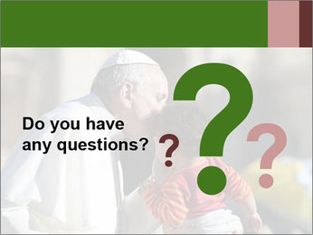 Pope Kissing Child PowerPoint Template - Slide 96