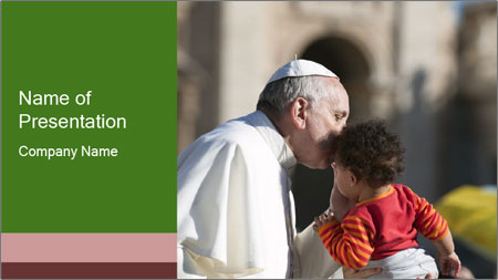 Pope Kissing Child PowerPoint Template