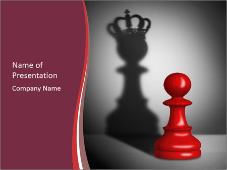 Red Chess Figure PowerPoint Template