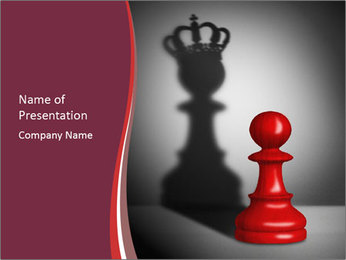 Red Chess Figure PowerPoint Template - Slide 1