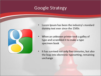 Red Chess Figure PowerPoint Template - Slide 10