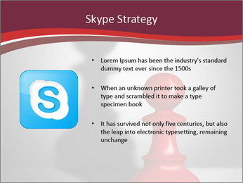Red Chess Figure PowerPoint Template - Slide 8