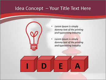 Red Chess Figure PowerPoint Template - Slide 80