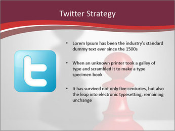 Red Chess Figure PowerPoint Template - Slide 9