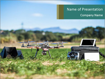 Military Drone PowerPoint Template - Slide 1