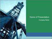 High Metalic Tower PowerPoint Template