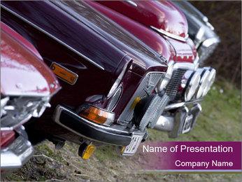 Antique Car Modèles des présentations  PowerPoint
