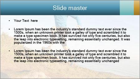 Man Climbing Hill PowerPoint Template - Slide 2