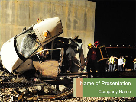 Rail Accident PowerPoint Template
