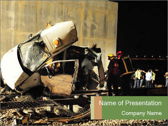Rail Accident PowerPoint Template - Slide 1