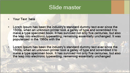 Rail Accident PowerPoint Template - Slide 2