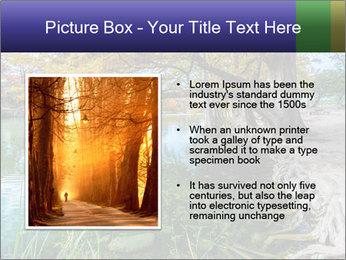Lake During Autumn Season PowerPoint Template - Slide 13