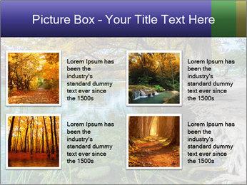 Lake During Autumn Season PowerPoint Template - Slide 14