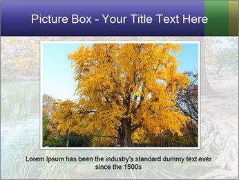Lake During Autumn Season PowerPoint Template - Slide 15