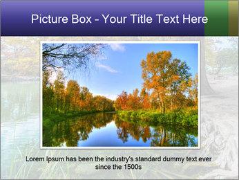 Lake During Autumn Season PowerPoint Template - Slide 16