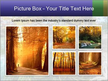 Lake During Autumn Season PowerPoint Template - Slide 19