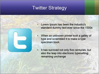 Lake During Autumn Season PowerPoint Template - Slide 9