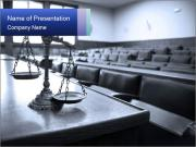 Scales At Empty Court PowerPoint Template