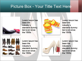 Pair Of Black High Hills Shoes PowerPoint Template - Slide 14