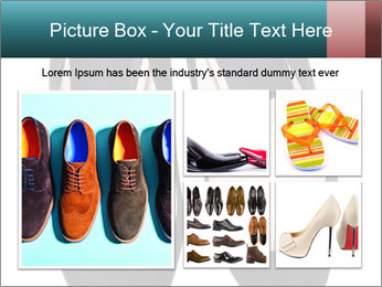 Pair Of Black High Hills Shoes PowerPoint Template - Slide 19