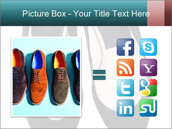 Pair Of Black High Hills Shoes PowerPoint Template - Slide 21