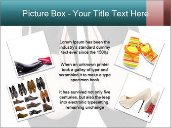 Pair Of Black High Hills Shoes PowerPoint Template - Slide 24