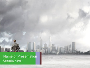 Smoggy City PowerPoint Template - Slide 1