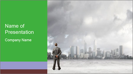 Smoggy City PowerPoint Template